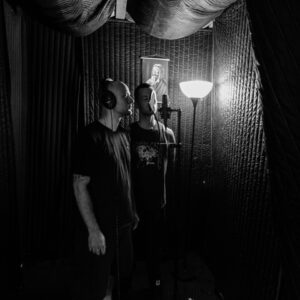 Davey & Andy in Vocal Booth at Dark City Studios